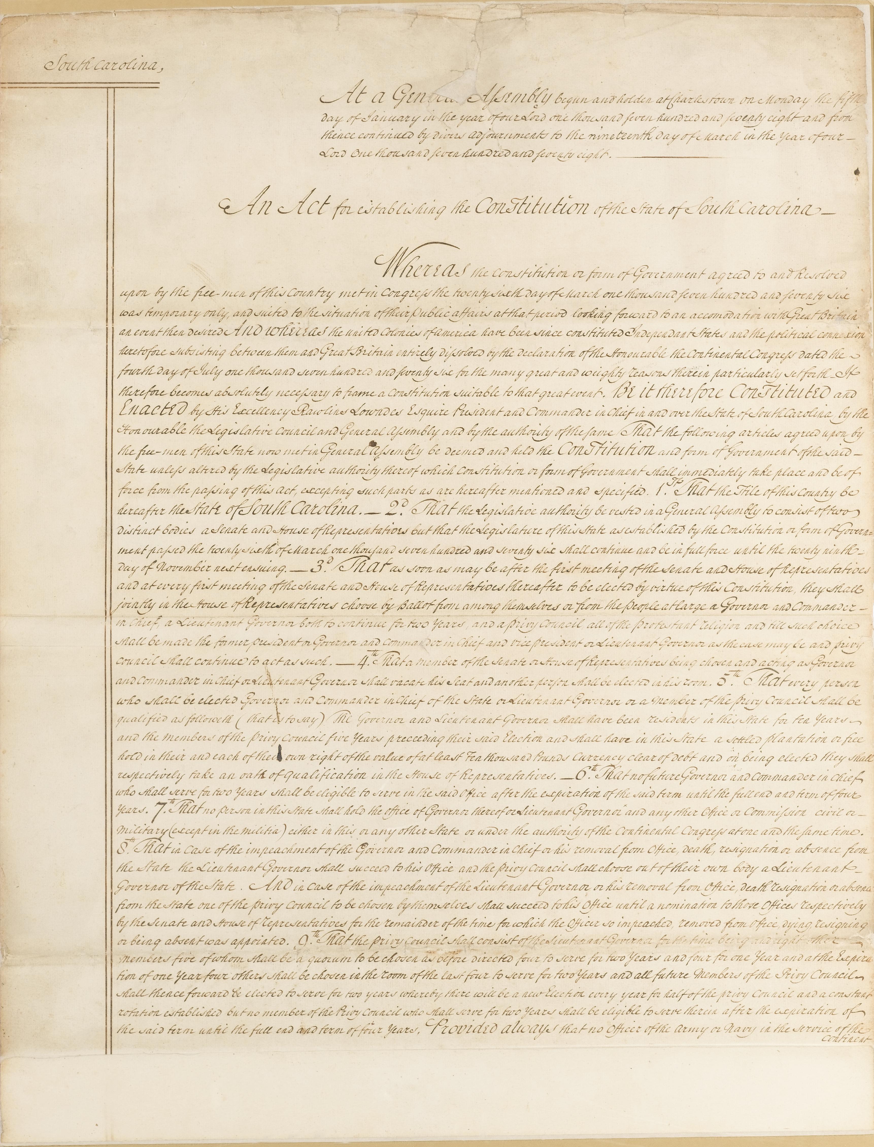 Constitution of 1778